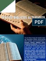 Textos Adulterados Da Biblia