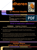 qi- medication adherence in mental health