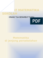 Hakekat Matematika Sekolah Pengantar Pendidikan