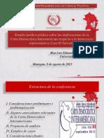 Conferencia Sobre El Estudio Jurídico Político de Las Implicaciones de La CDI en La Democracia Representativa - Caso El Salvador