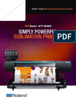 Roland Texart XT 640 Dye Sublimation Printer by Print Finish