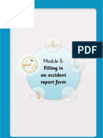 Steps to Safety - Module 5 - Filling in an Accident Report Form