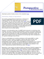 Achieve's October 2007 Perspective Newsletter