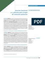 evaluación del paciente para cirugía pulmonar