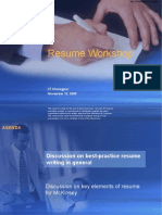 Mc Kinsey Resume Workshop