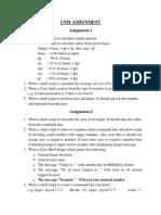 UNIX Shell Scripting Assignment