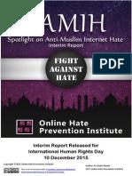 Anti-Muslim Hate Online Interim Report