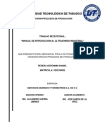 Manual de Procedimiento de Ensayos No Destructivos Por El Metodo de Ultrasonido