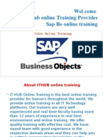 Best sap Bo online training in Usa, Uk, Singapore, Canada, India