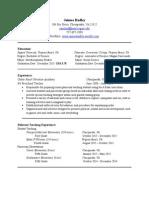 resume - teaching