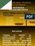 Obligaciones Obreros Patronales Ecuador
