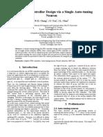 On-line PID Controller Design via a Single Auto-tuning Neuron