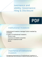 Governance and Responsibility - Lecture 4 CG Reporting and Disclosure