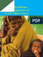 Guidelines for Acute Malnutrition (Somalia)