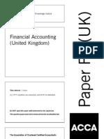 F3 (Financial Accounting) UK