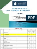 Chapter 2 C Fundamentals