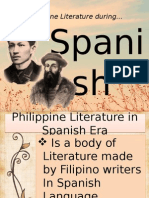 Philippine Literature in Spanish Era Report