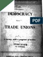 Democracy in Trade Unions