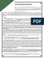 Rental Agreement Example