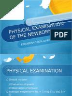 Newborn PE