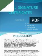 Main Presentation( Digital Signature Certificates)