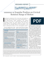 Influence of Scapular Position on Cervical ROM