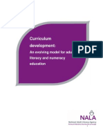 Curriculum Development - An Evolving Model for Adult Literacy and Numeracy Education