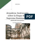 Aryadeva Instrucción Sobre La Etapa de La Suprema Iluminación.