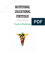 nutritional educational portfolio