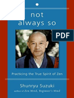 Not Always So Shunryu Suzuki