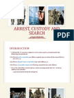 Arrest, Custody and Search Ppt