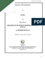 MBA Weekend (Revised) Syllabi 2014 Onwards