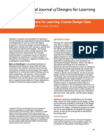 Games and Simulations for Learning a Course Design Case