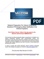 Valcom IP6000 Initial Setup Procedure