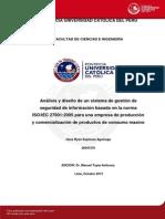 Espinoza Hans Analisis Sistema Gestion Seguridad Informacion Iso Iec 27001 2005 Comercializacion Productos Consumo Masivo