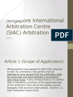 SIAC Arbitration Rules 2013