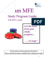 Exam MFE Study Program Guide