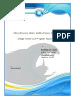 Microfinance Model ImpactStudy