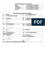 Alkynes Answers Naming HC Practice Answers
