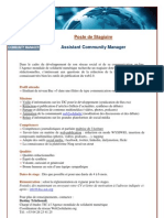 Stagiaire Assistant Community Manager