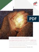Livre Blanc 7 Reponses Aux Defis Scientifiques Du 21eme Siecle