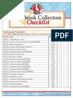 Gooseberry Patch Cookbook Collectors Checklist