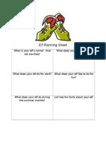 elf planning sheet