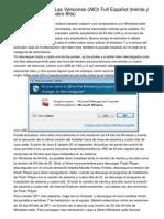Windows 7 Todas Las Versiones (AIO) Full Español (treinta y dos Y sesenta y cuatro Bits)