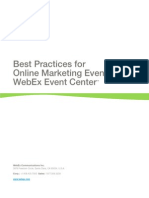 WebEx Event Strategy Best Practices