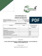 Formato de Registro Copa Petrolera 2015 Ciupe