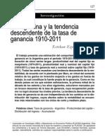 Maito Esteban Ezequiel - La Argentina y La Tendencia Descendente de La Tasa de Ganancia 1910-2011-Libre