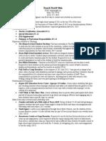 sped resume 2015