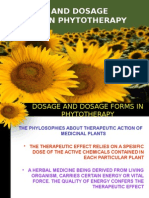 Dosage and Dosage Forms in Phytotherapy