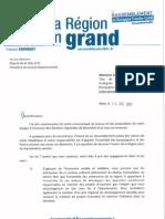 Courrier à M. Julien Gonzalez (AEI)